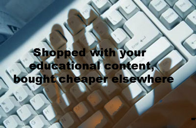 shopped your educational content bought elsewhere
